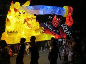 札幌北高学校祭の行灯行列2